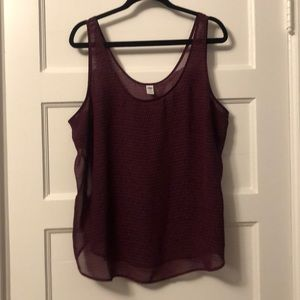 Old Navy purple chiffon tank - XXL